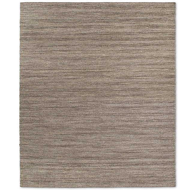 Textured Striped Wool Rug Marled