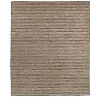 Textured Striped Wool Rug Heather Grey