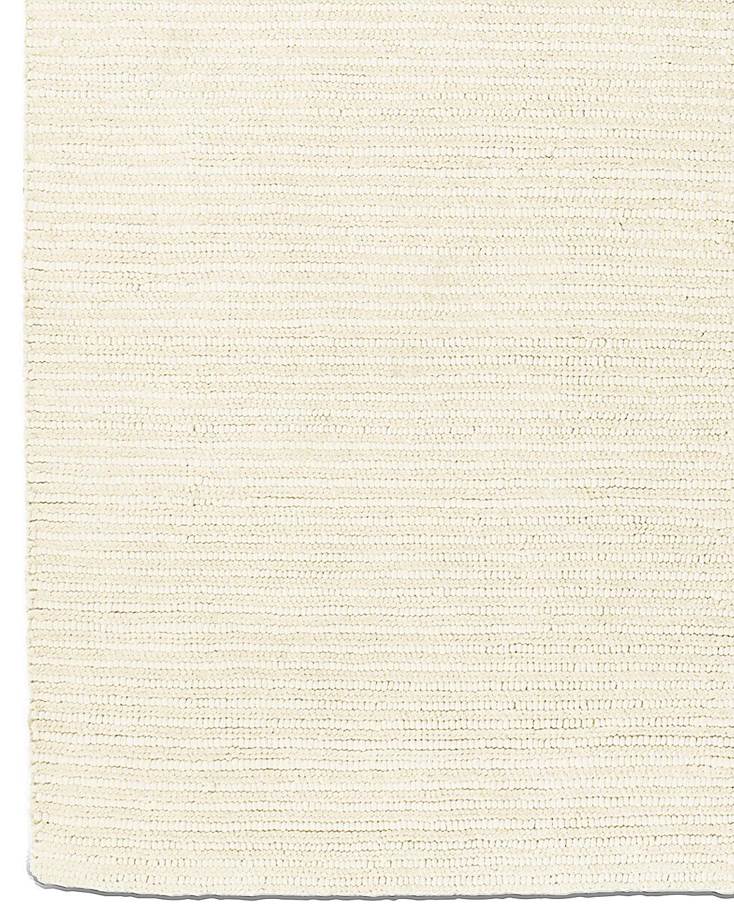 Textura Stripe Wool Rug Cream