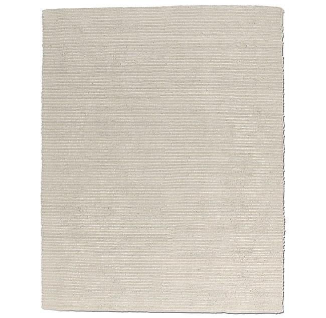Textura Stripe Wool Rug Oatmeal