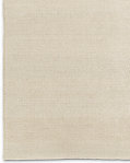 Textura Plaited Wool Rug - Cream