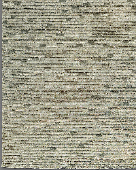 Naturale Ribbed Wool Rug - Grey