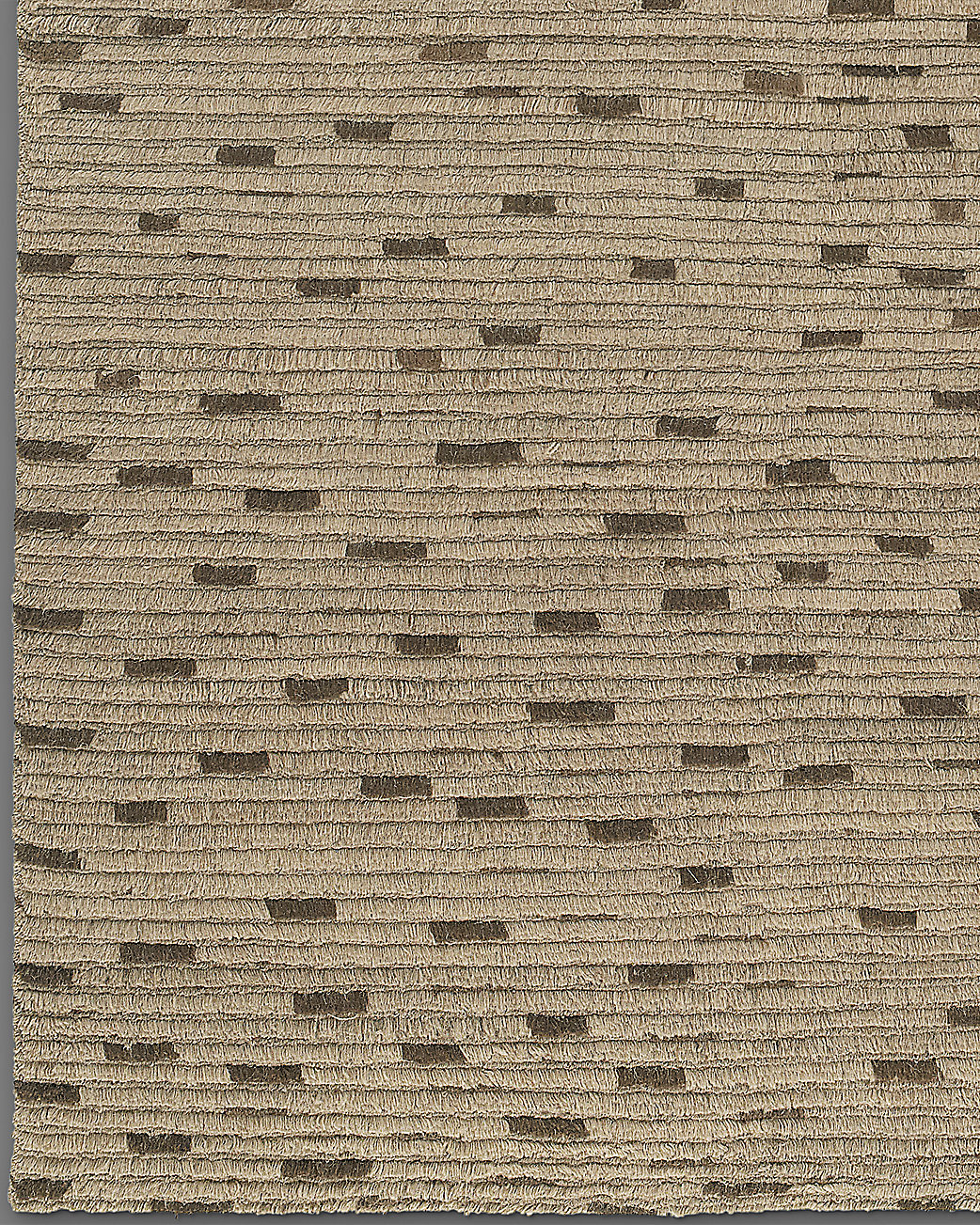 Naturale Ribbed Wool Rug - Mocha
