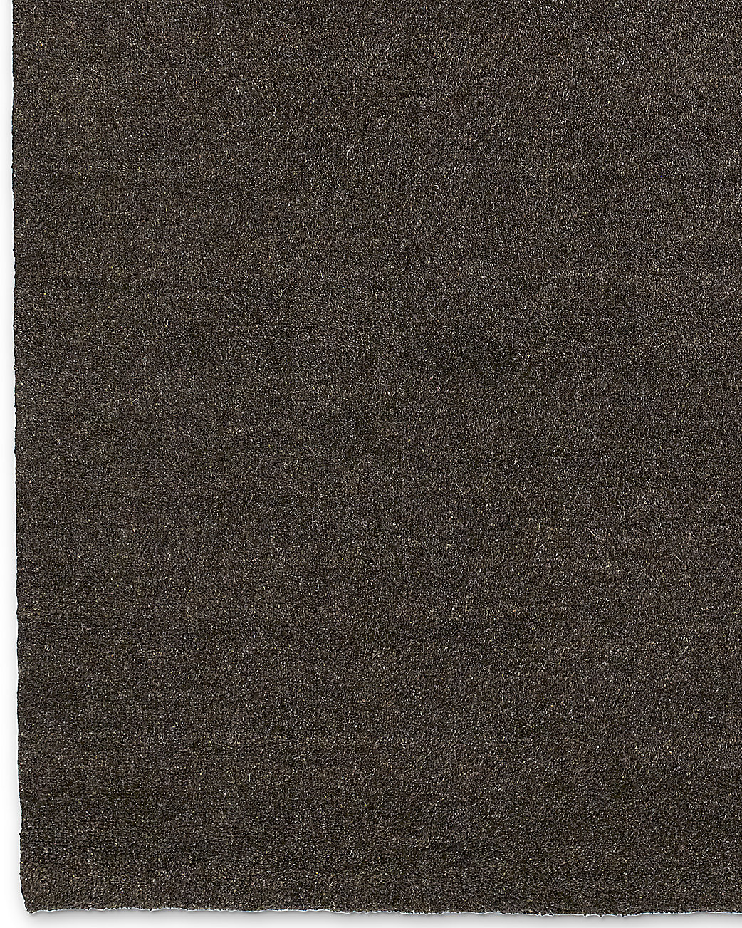 Luxe Heathered Wool Rug - Chocolate