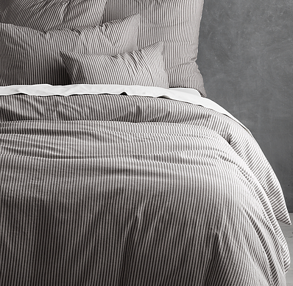 Garment Dyed Ticking Stripe Duvet Cover