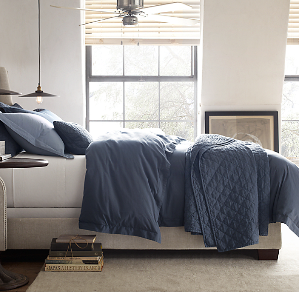 Restoration Hardware Usa: Garment-Dyed Percale Box-Spring Cover