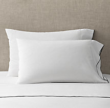 Italian Tipped Satin Stitch Pillowcases (Set of 2)