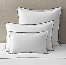 Italian Tipped Satin Stitch Sham
