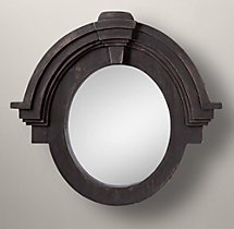 Salvaged Mansard Mirror