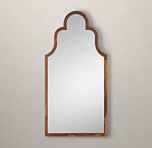 "Dutch Baroque Leaner Mirror - Rust 39""W x 79""H"