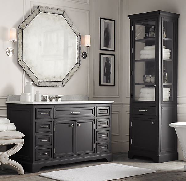 palazzo antiqued glass octagonal mirror. Black Bedroom Furniture Sets. Home Design Ideas