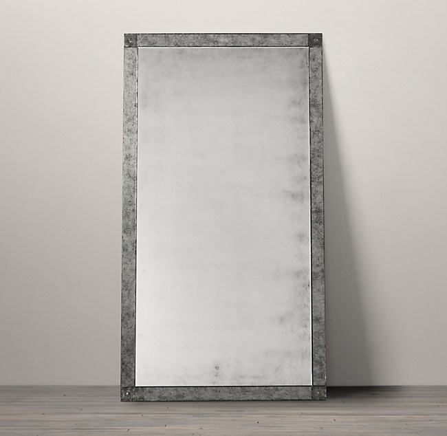 Beautiful Palazzo Antiqued-Glass Leaner Mirror TV45