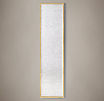 Bistro Antiqued Glass Leaner Mirror