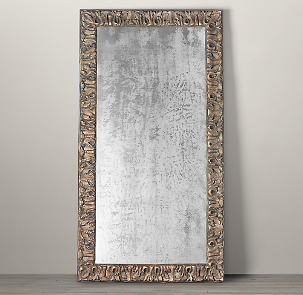 Bellamy Hand Carved Leaner Mirror
