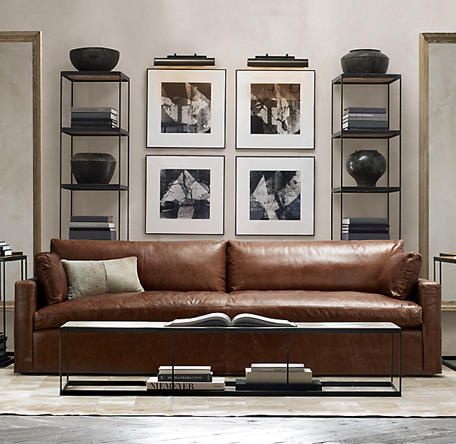 Belgian Track Arm Leather Sofa Color Preview Unavailable Alternate View 1 2 3 4 5