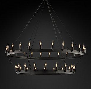 All ceiling rh camino vintage candelabra 2 tier chandelier 50 mozeypictures Gallery