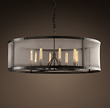 Riveted Mesh Round Chandelier 40""