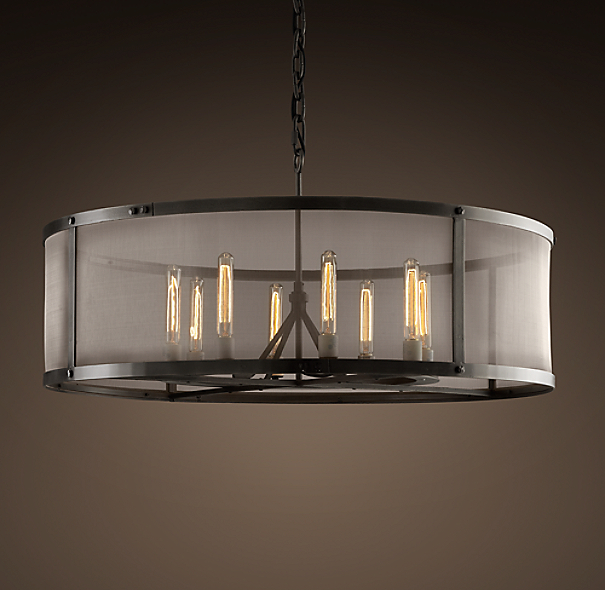 Riveted Mesh Round Chandelier 40 Quot