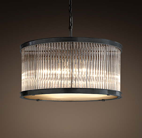 Restoration Hardware Light Fixture Sale: 1920s Essex Crystal Rod Chandelier 32""