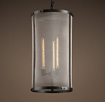 Riveted Mesh Pendant 14""