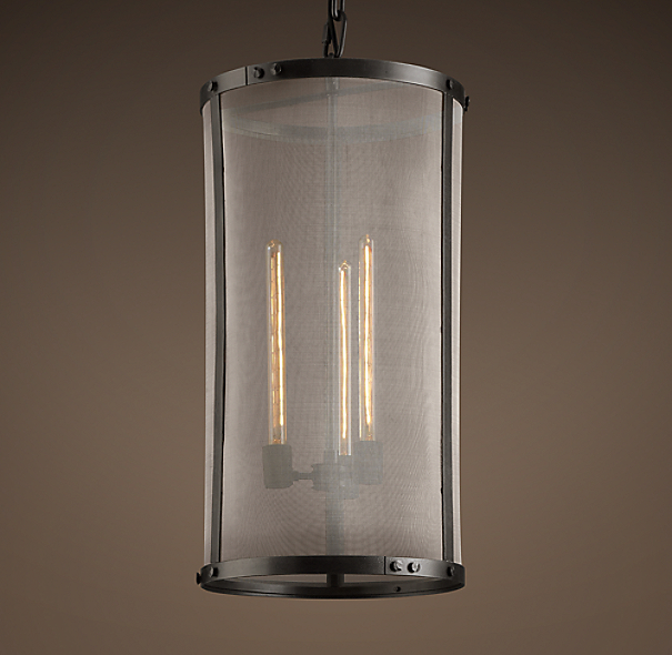 Riveted Mesh Pendant 14 Quot