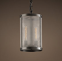 Riveted Mesh Pendant 9""