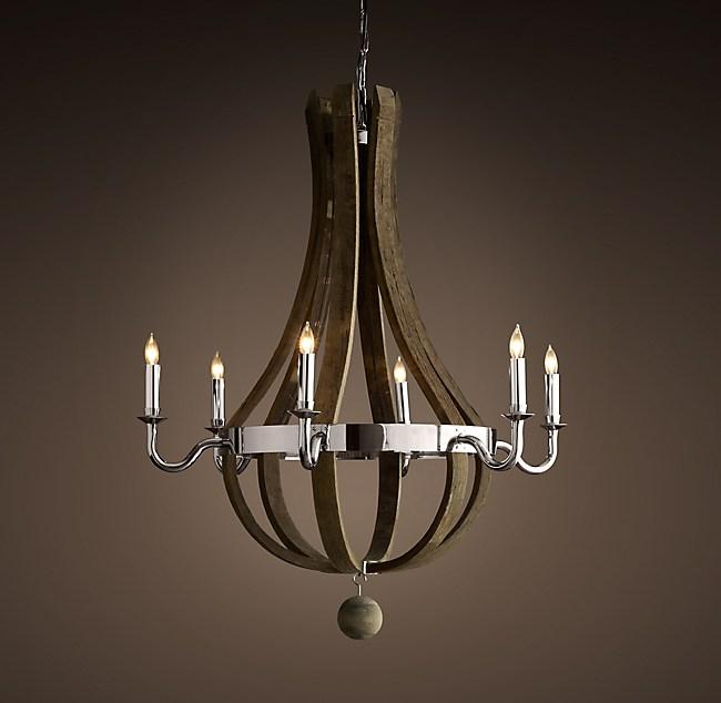 Wine barrel chandelier 32 aloadofball Image collections