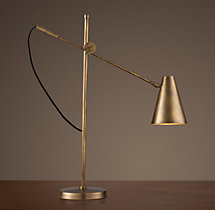 20th C. Torpedo Task Table Lamp