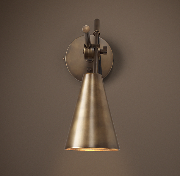 20th C Torpedo Sconce
