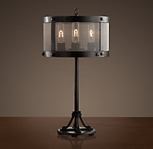 Riveted Mesh Accent Lamp