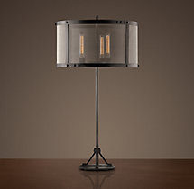 Riveted Mesh Table Lamp
