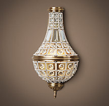 19TH C. French Empire Crystal Sconce 18""