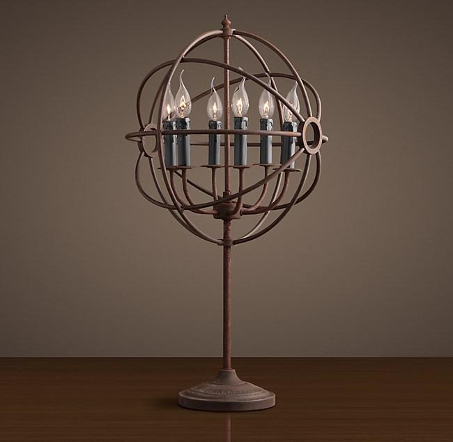 Foucaults orb table lamp