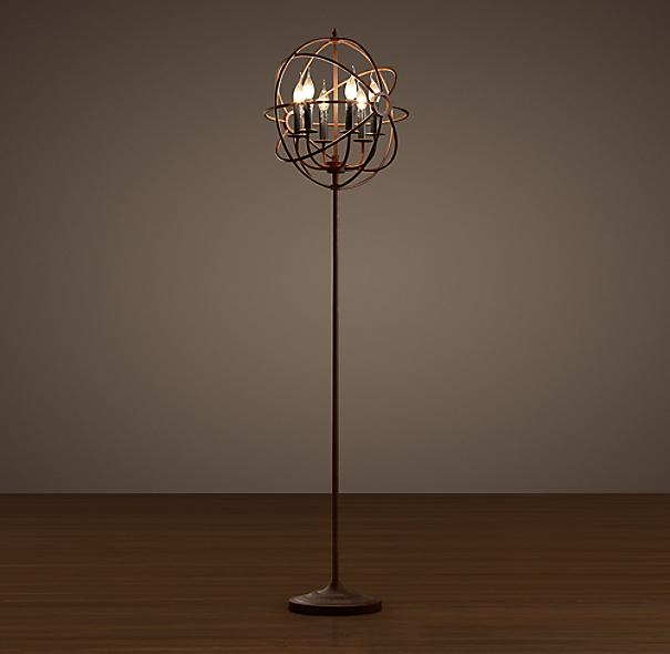 foucault 39 s orb floor lamp. Black Bedroom Furniture Sets. Home Design Ideas