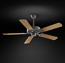 Bistro Ceiling Fan - Galvanized Steel