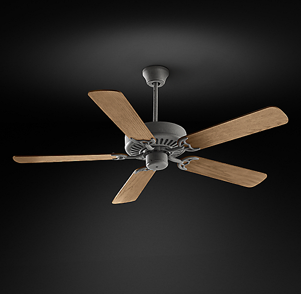 Bistro Ceiling Fan Galvanized Steel