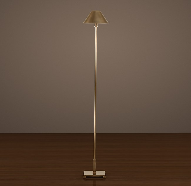 Petite candlestick floor lamp with metal shade aloadofball Image collections