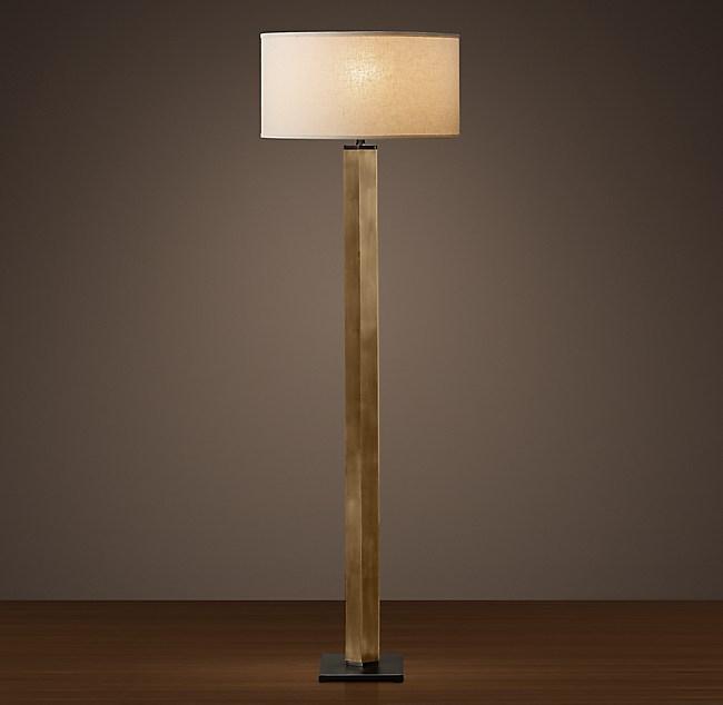 Hexagonal Column Floor Lamp