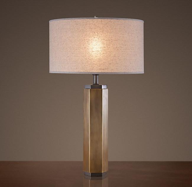 Hexagonal column table lamp aloadofball Images