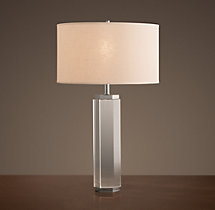 Hexagonal Column Crystal Table Lamp