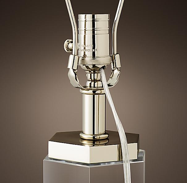 Hexagonal Column Crystal Table Lamp