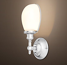Vintage English Oval Sconce
