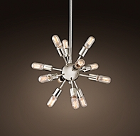 sputnik filament chandelier 21. Black Bedroom Furniture Sets. Home Design Ideas