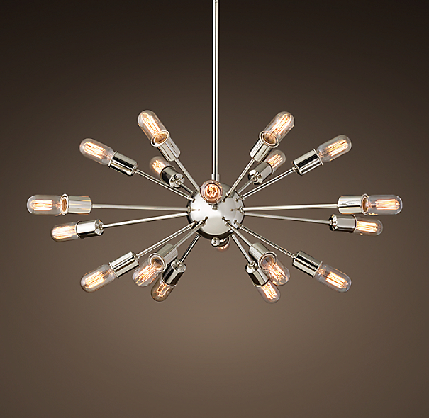 sputnik elliptical filament chandelier. Black Bedroom Furniture Sets. Home Design Ideas
