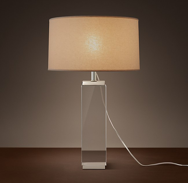 Column crystal table lamp square column crystal table lamp mozeypictures Images