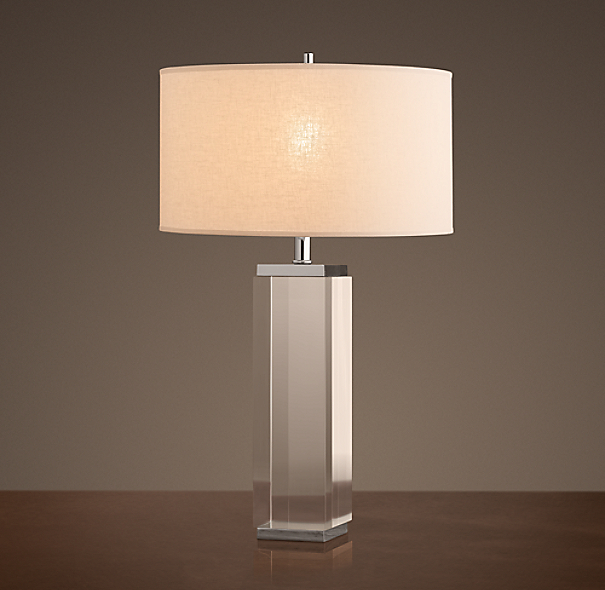 Square Column Crystal Table Lamp