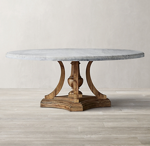 St James Marble Dining Table Collection Rh