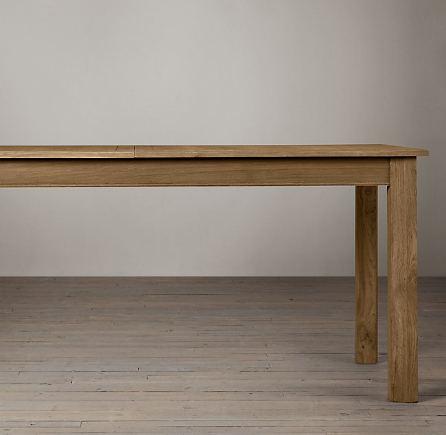 Top Drifted Oak Parsons Rectangular Extension Dining Table FC62