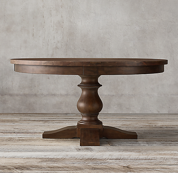 17th C Monastery Round Dining Table