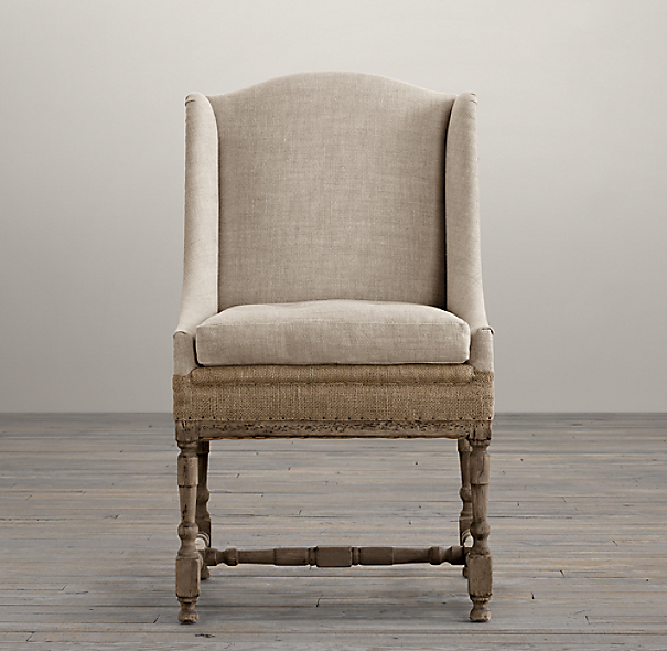 Deconstructed 19th C Slope Arm Dining Chair